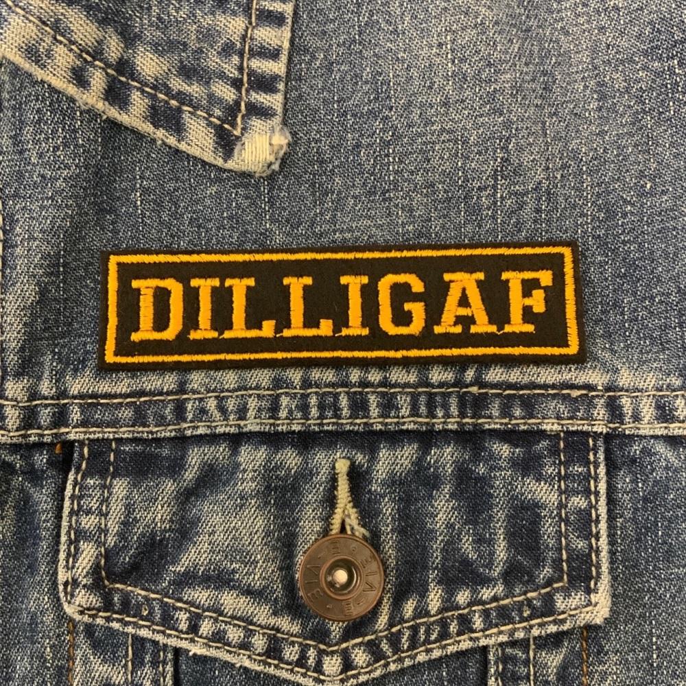 Dilligaf - 1 line felt patch #0030