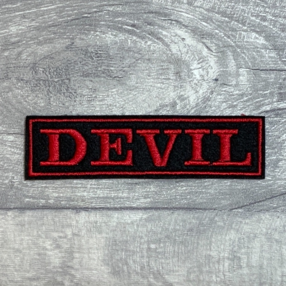 DEVIL - 1 line felt patch #0029