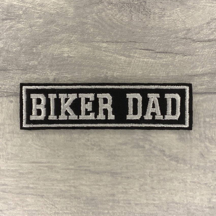 Biker Dad - 1 line felt patch