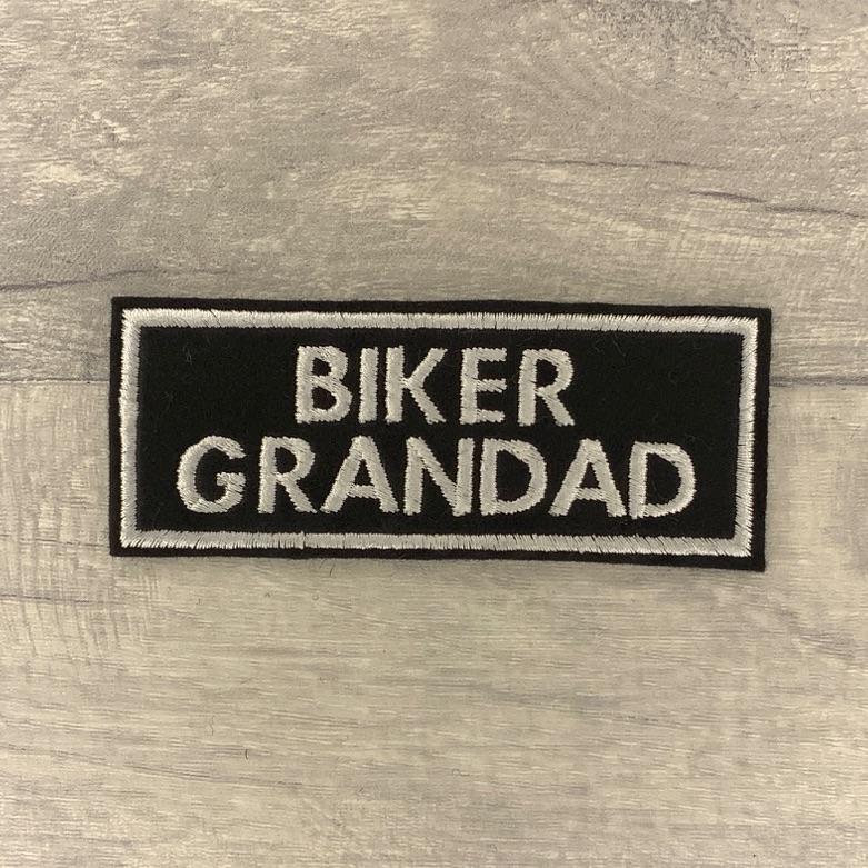 Biker Grandad - 2 line felt patch