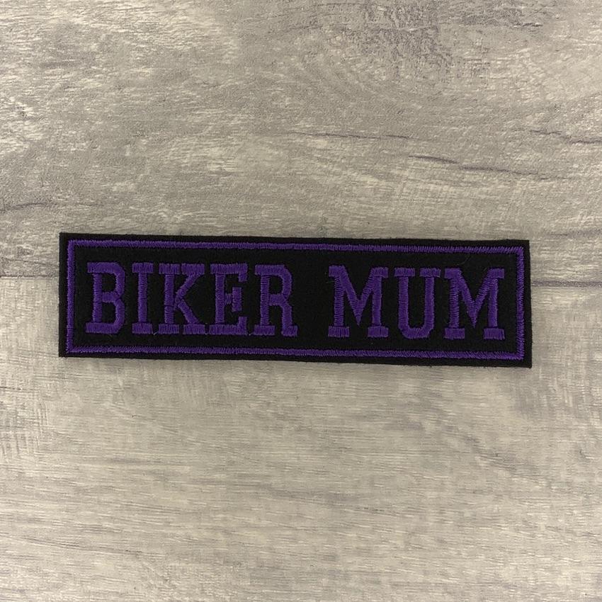 Biker Mum - 1 line felt patch