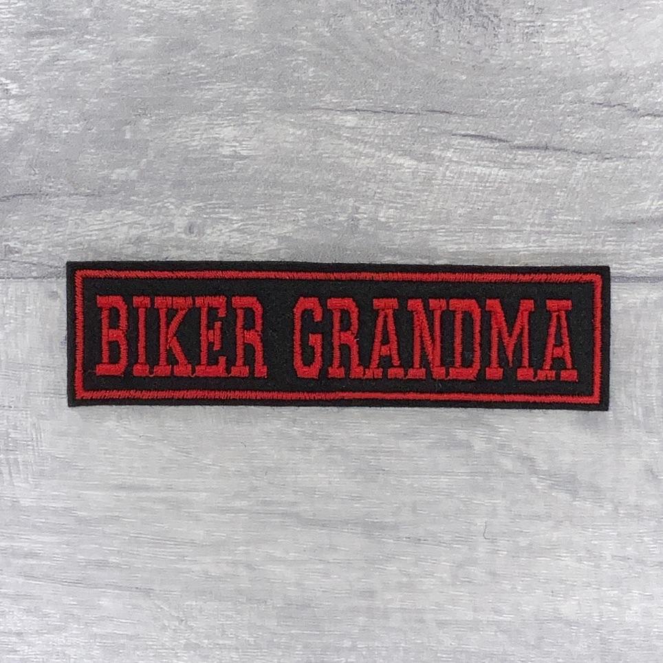Biker Grandma - 1 line felt patch