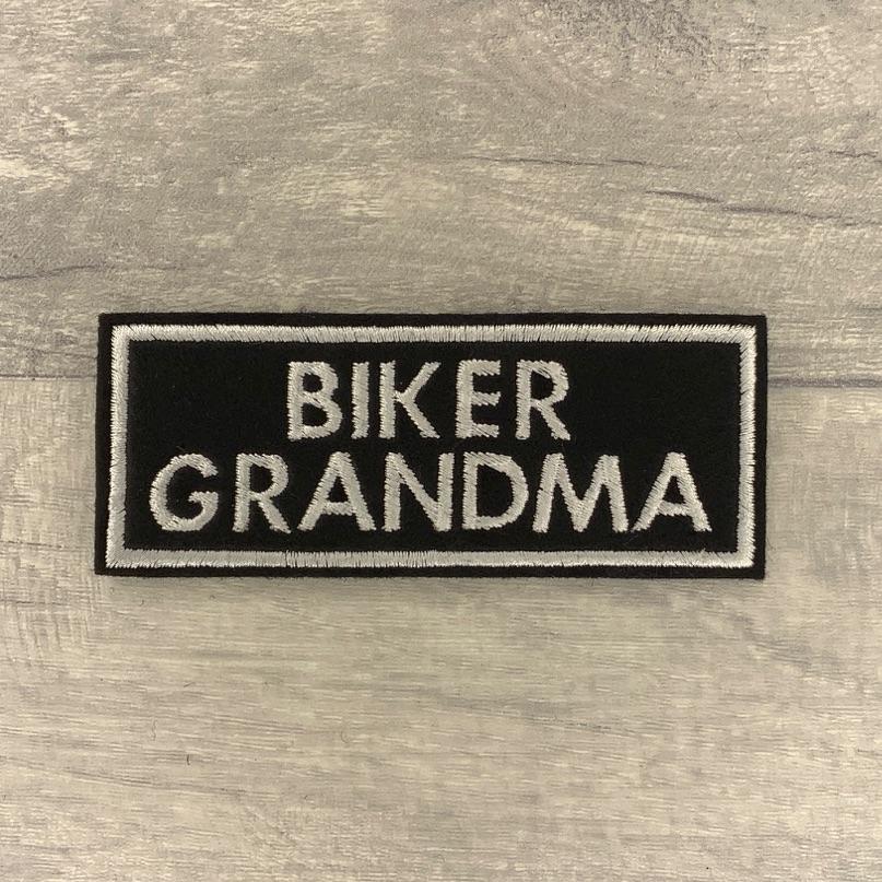 Biker Grandma - 2 line felt patch