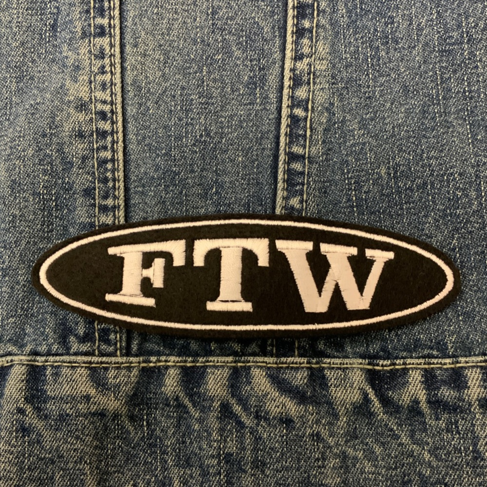 FTW - 1 line oval felt patch #0035