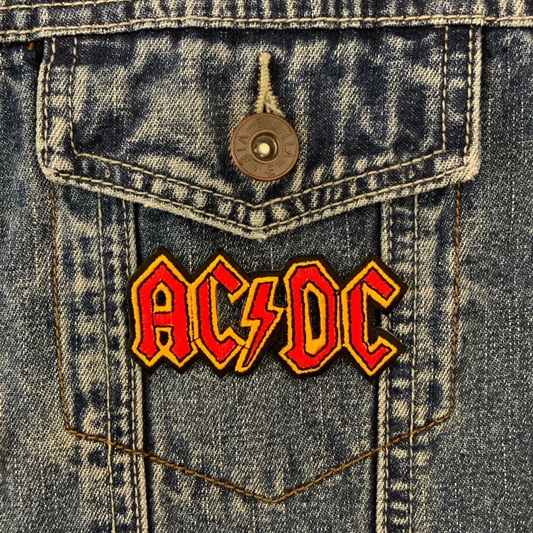 ACDC Fabric Embroidered Patch Music Band Rock