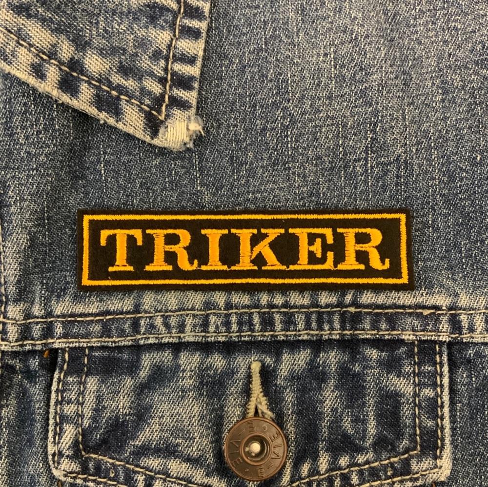 Triker - 1 line embroidered felt patch #0078