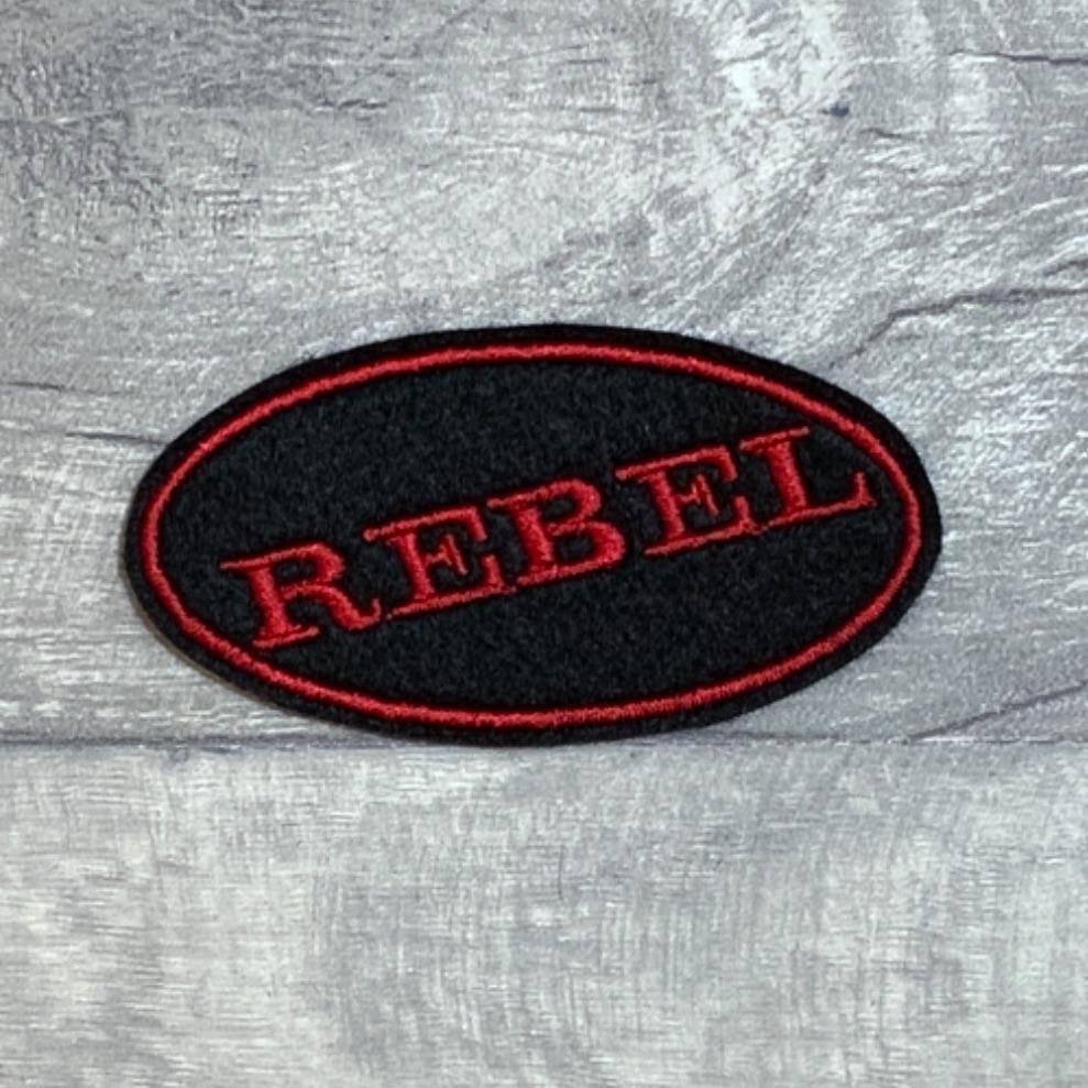 REBEL - Oval felt patch #0061