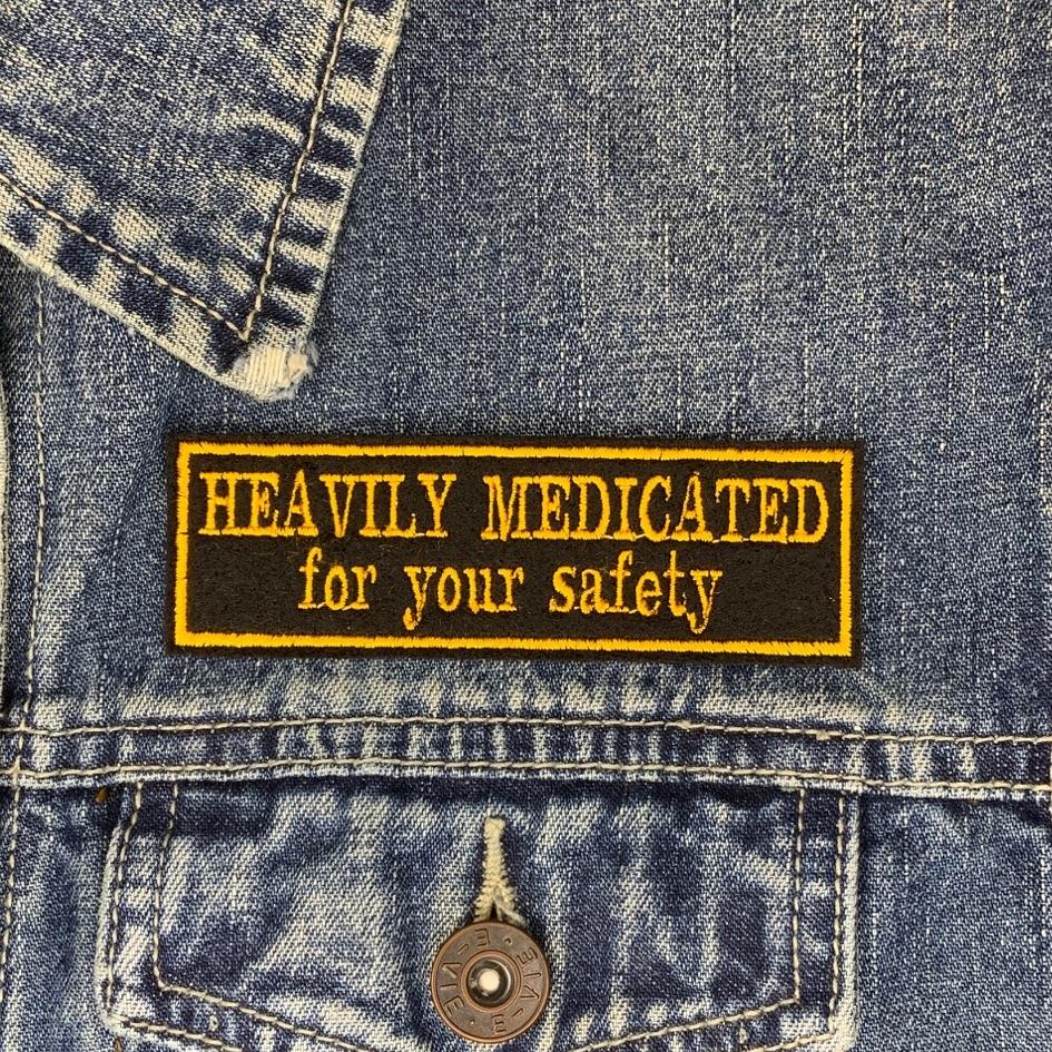 Heavily Medicated - 2 line felt patch
