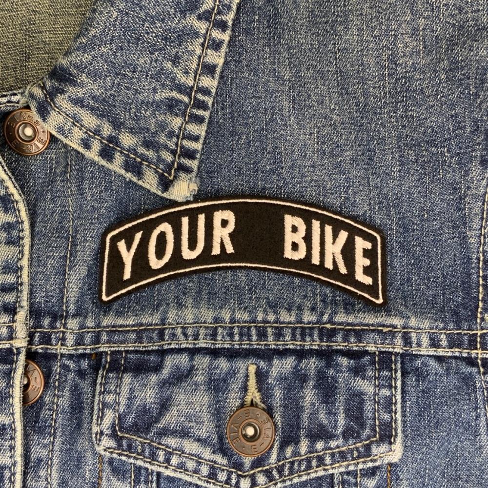 Your Bike Model Custom Personalised Top Rocker Felt Patch - 4