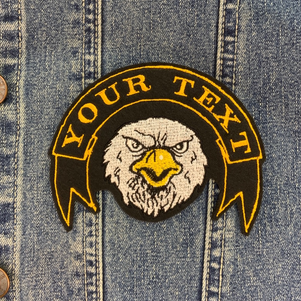 Eagle Ribbon Banner Custom Personalised Felt Patch