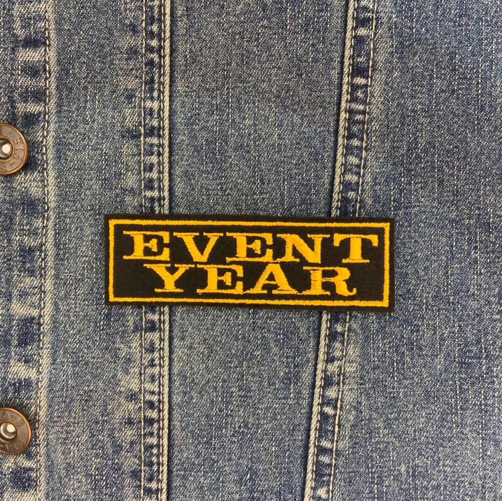 Event & Year 2 Line Custom Personalised Felt Patch - Standard Font