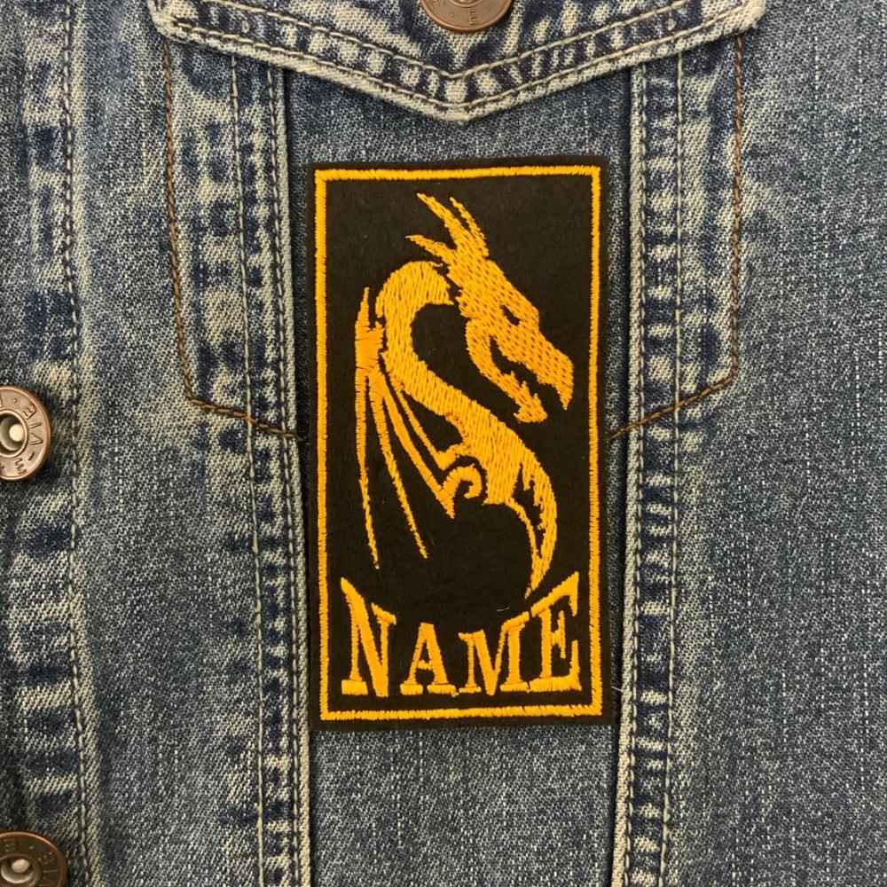 Dragon Custom Personalised Felt Patch - 10cm x 7cm