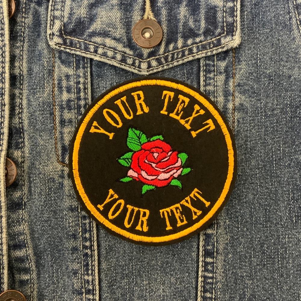 Rose Circle Custom Personalised Felt Patch