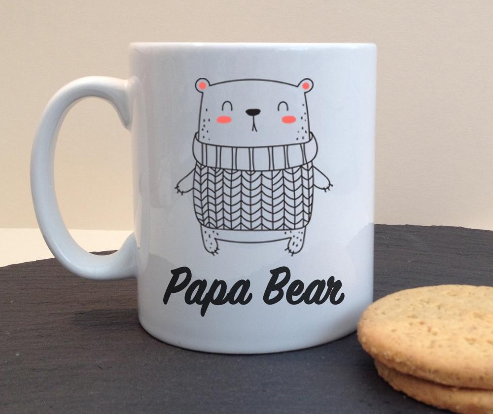 Papa Bear Dad Daddy Ceramic Fathers Day / Birthday Personalised Mug