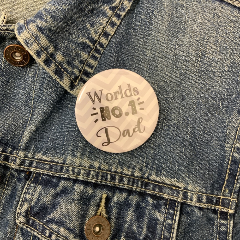 Worlds No.1 Dad Button Badge 58mm