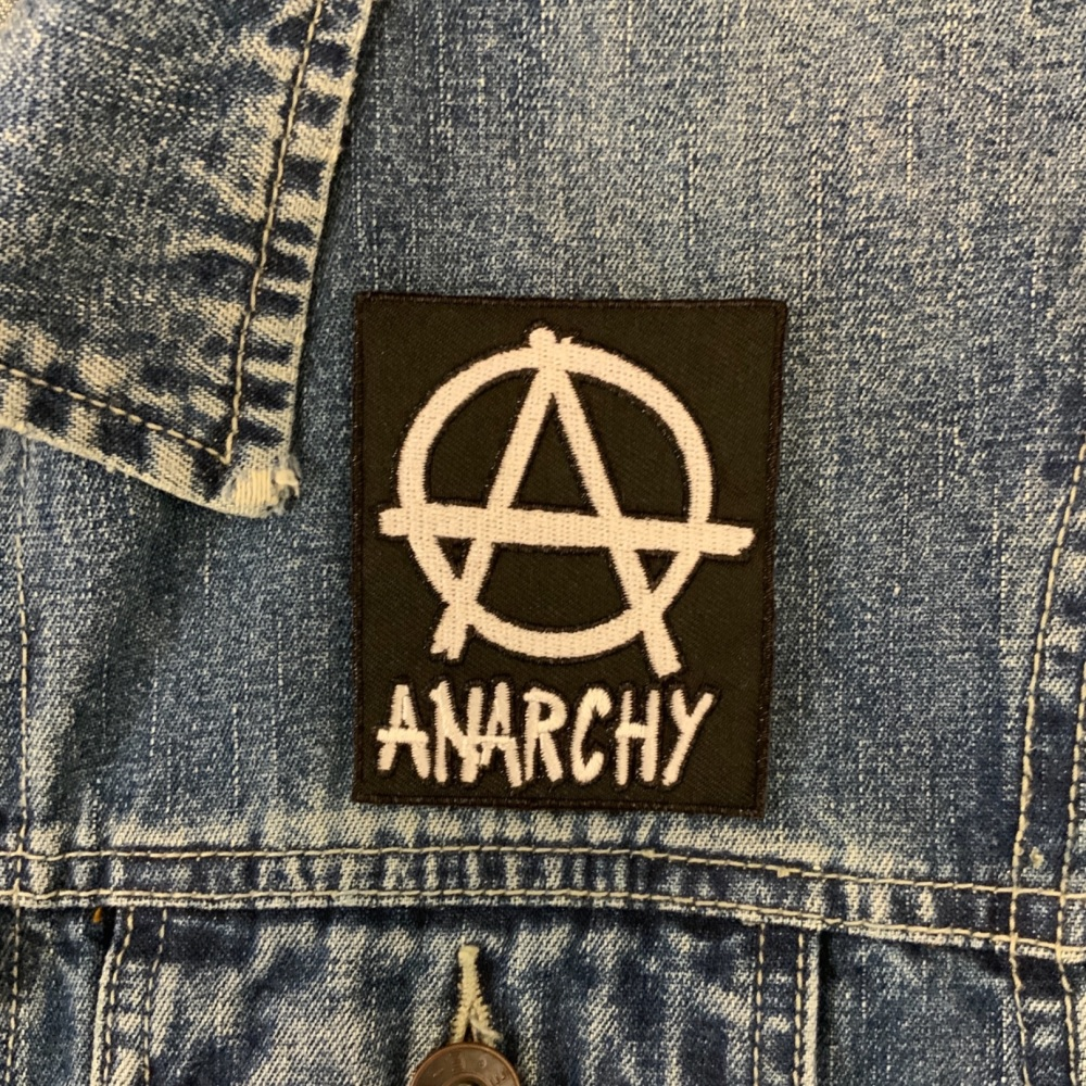 ANARCHY Fabric Embroidered Biker Patch