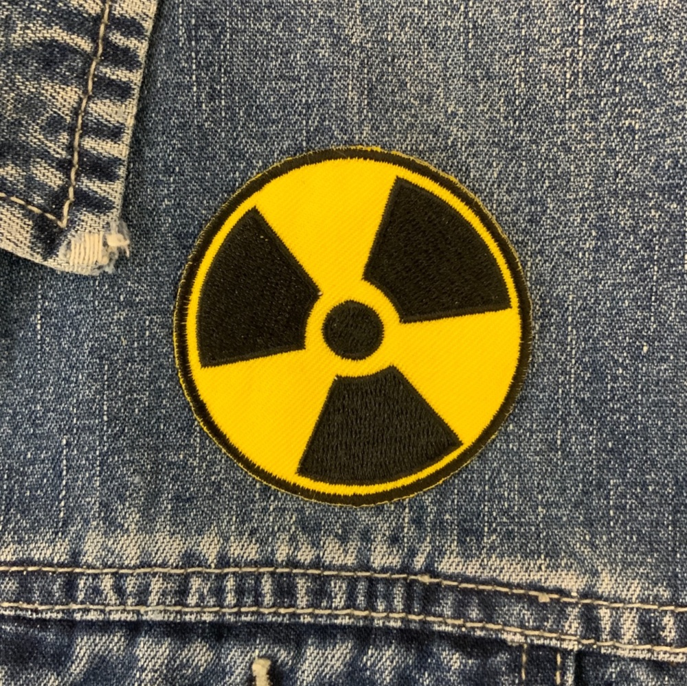 Radioactive Toxic Hazardous Nuclear Waste Symbol Embroidered Patch