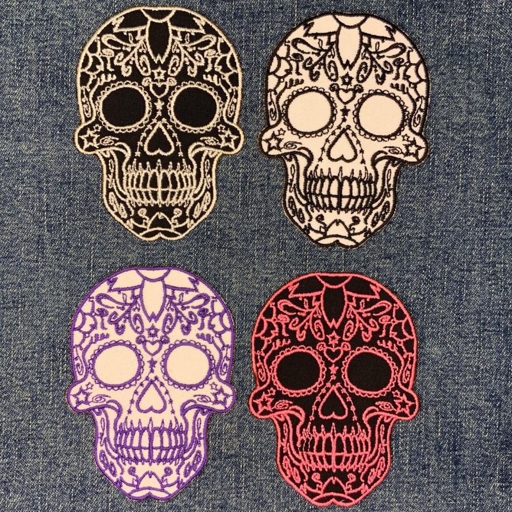 Calavera Mexican Sugar Skull Biker Skull Day Of The Dead Patterned Skull #0
