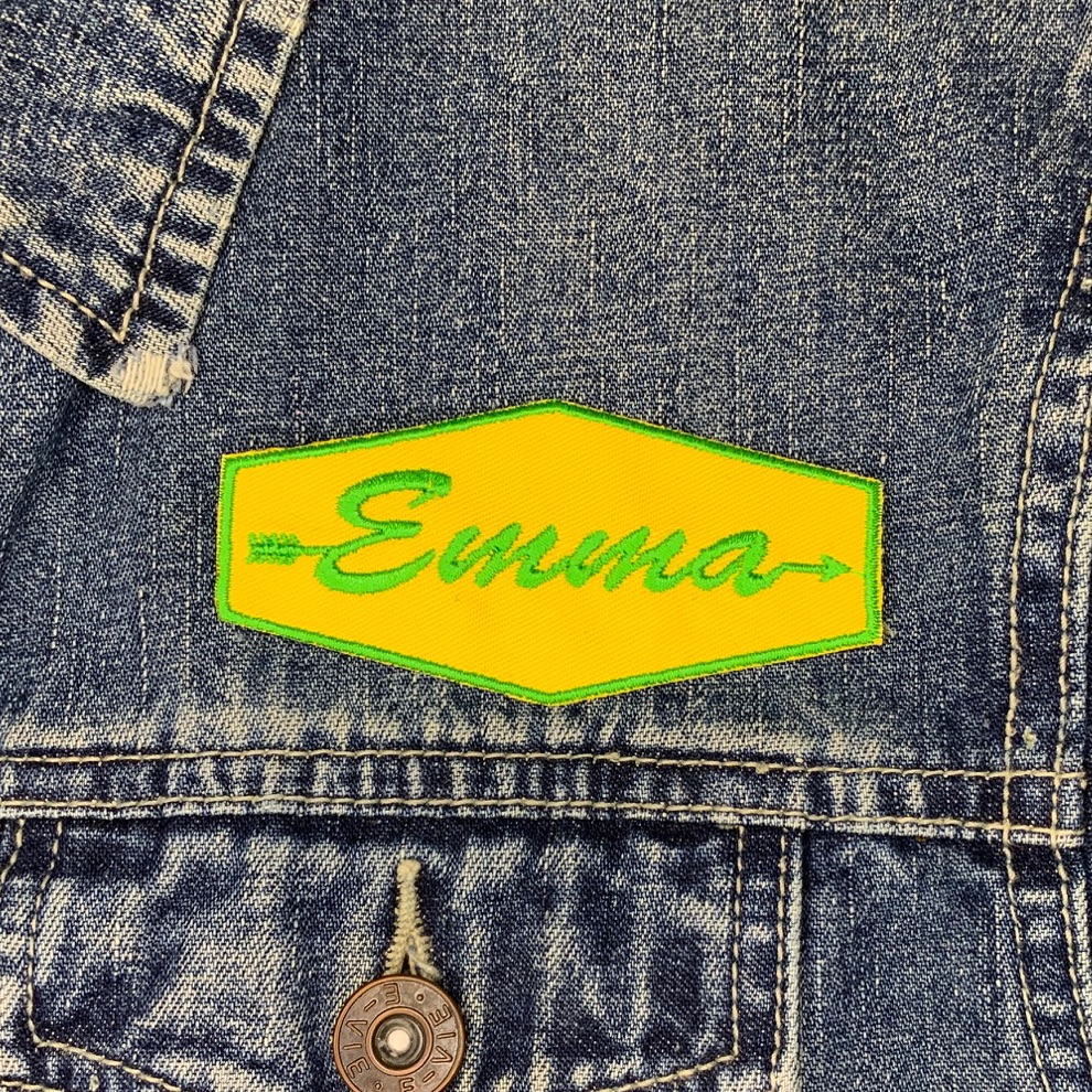 Personalised Little Explorer Arrow Name Embroidered Patch