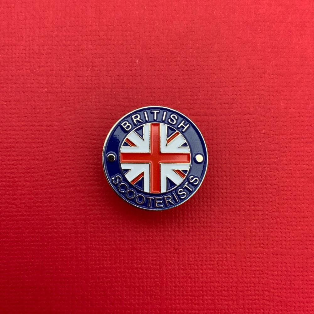 British Scooterists Enamel Pin Badge #0004
