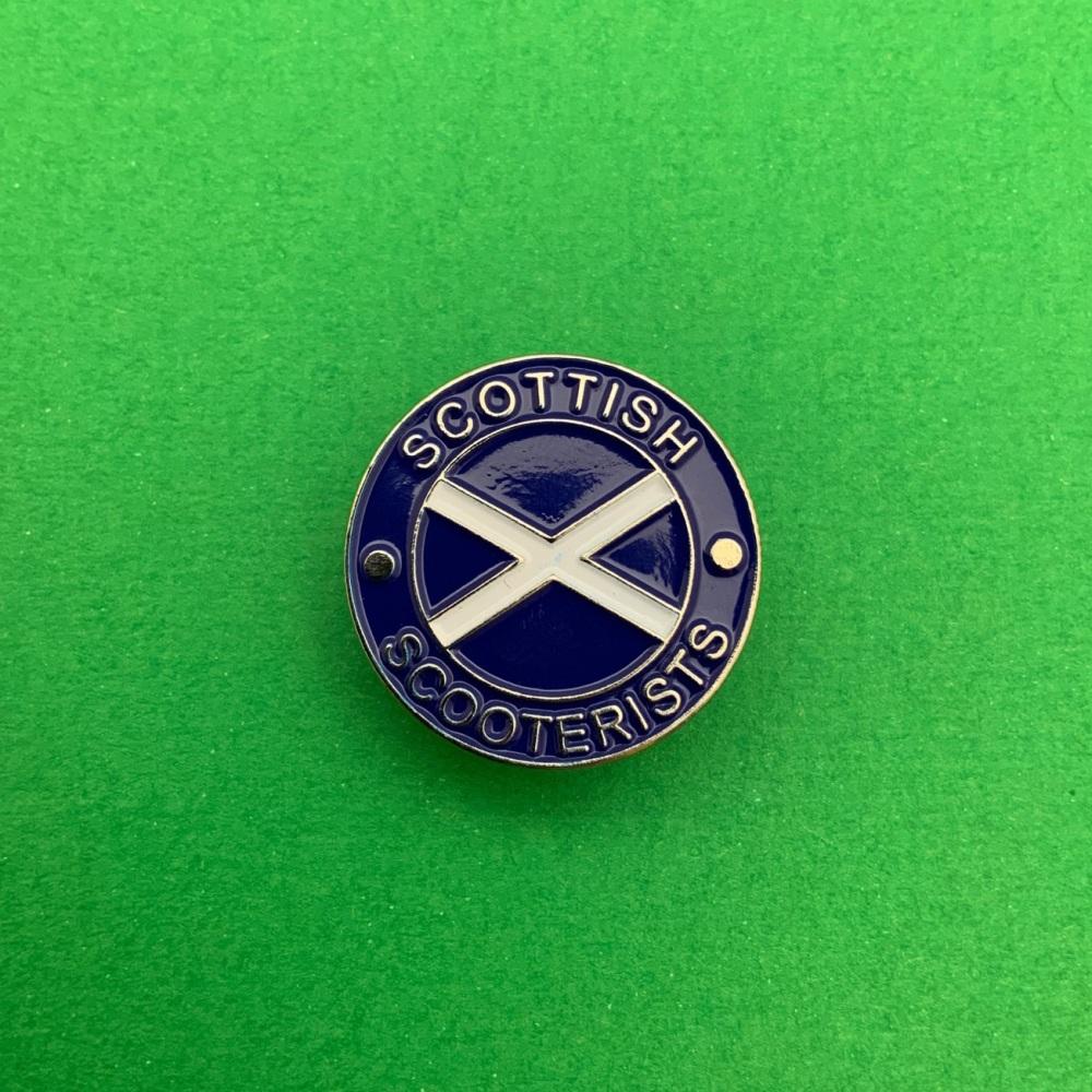 Scottish Scooterists Enamel Pin Badge #0010