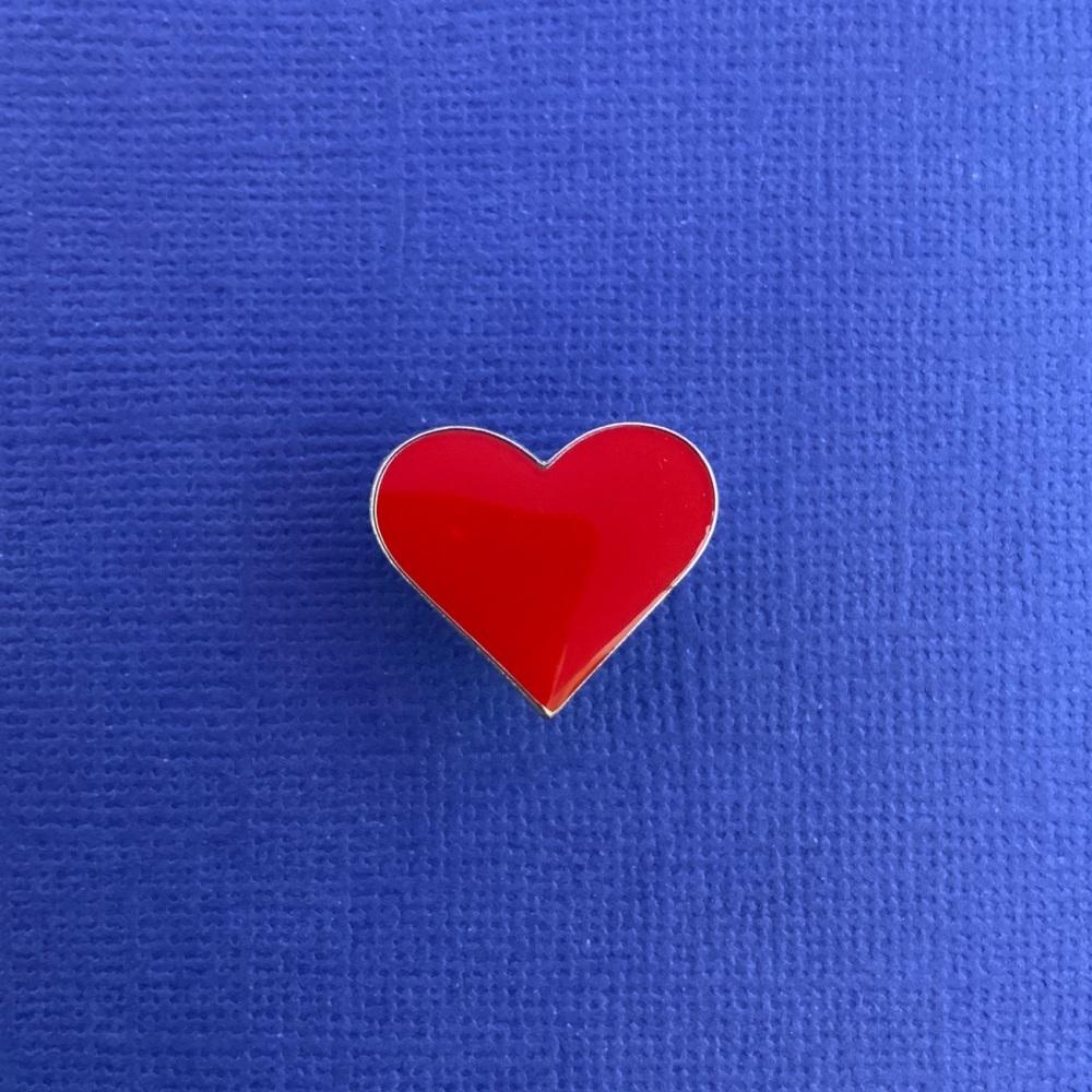 Red Heart Enamel Pin Badge #0025