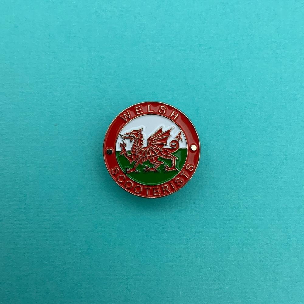 Welsh Scooterists Enamel Pin Badge #0011