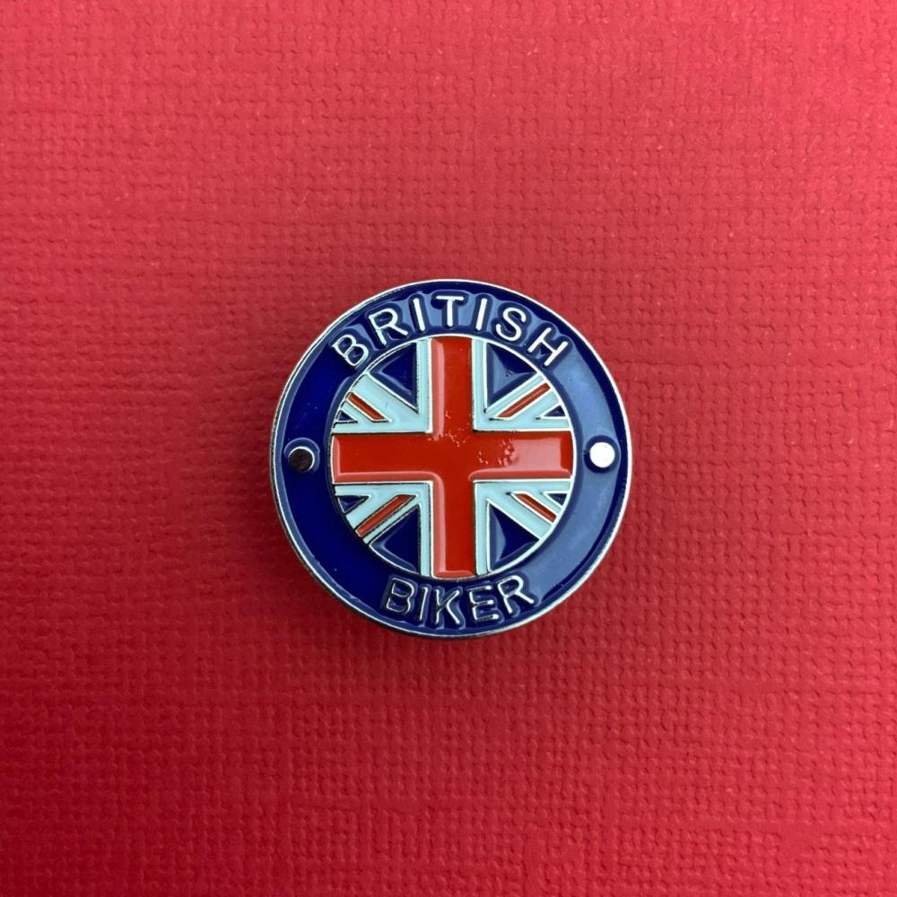 British Biker Enamel Pin Badge #0001