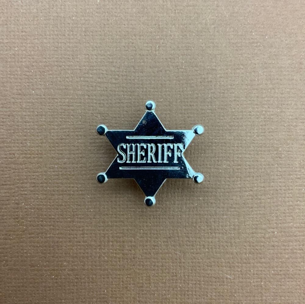 Sheriff Badge Enamel Metal Pin Badge #0072