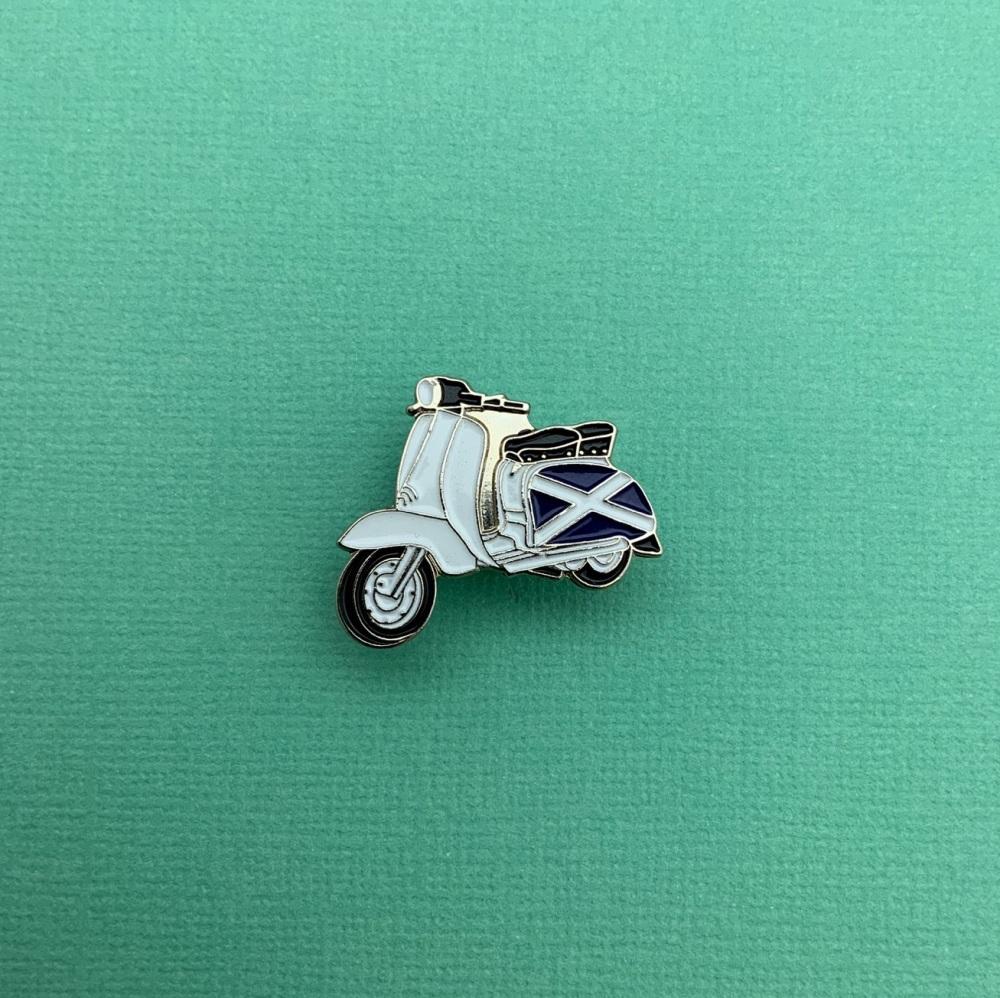 Lambretta Scottish Flag Enamel Metal Pin Badge #0077