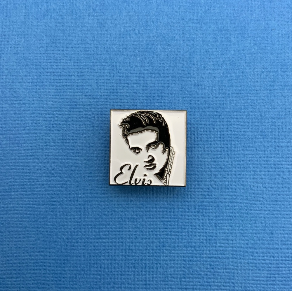 #0107 Elvis Music Rock a Billy Rock n Roll Enamel Metal Pin Badge