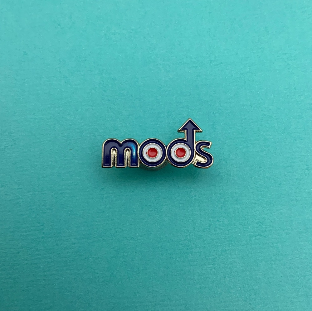 MODs Text Cut Out Enamel Pin Badge #0013