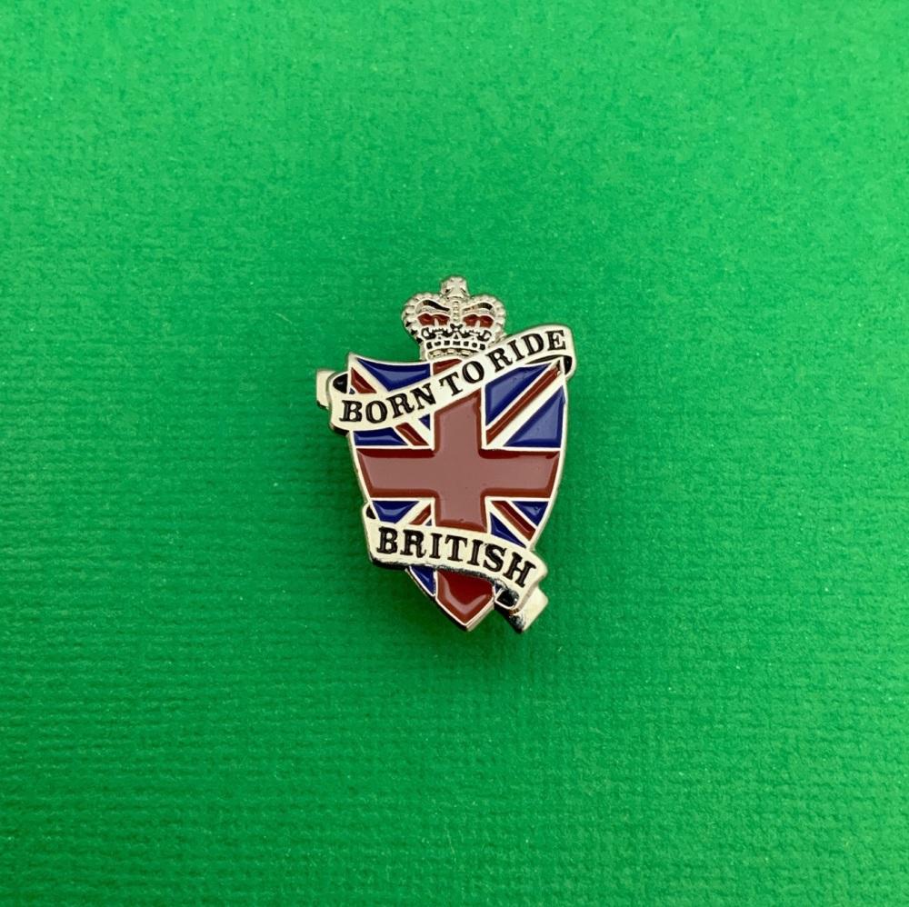 Born To Ride British Metal Enamel Pin Badge #0019