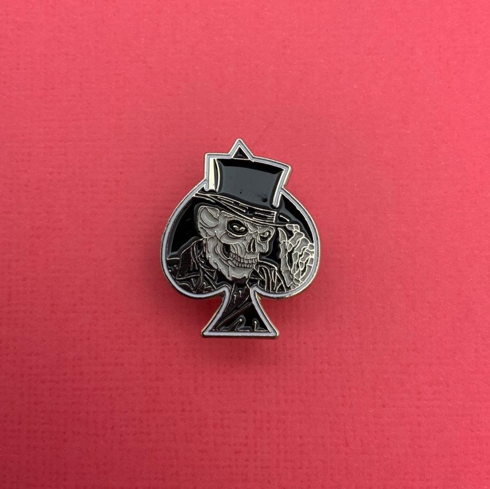 Skull Ace Metal Enamel Pin Badge #0015