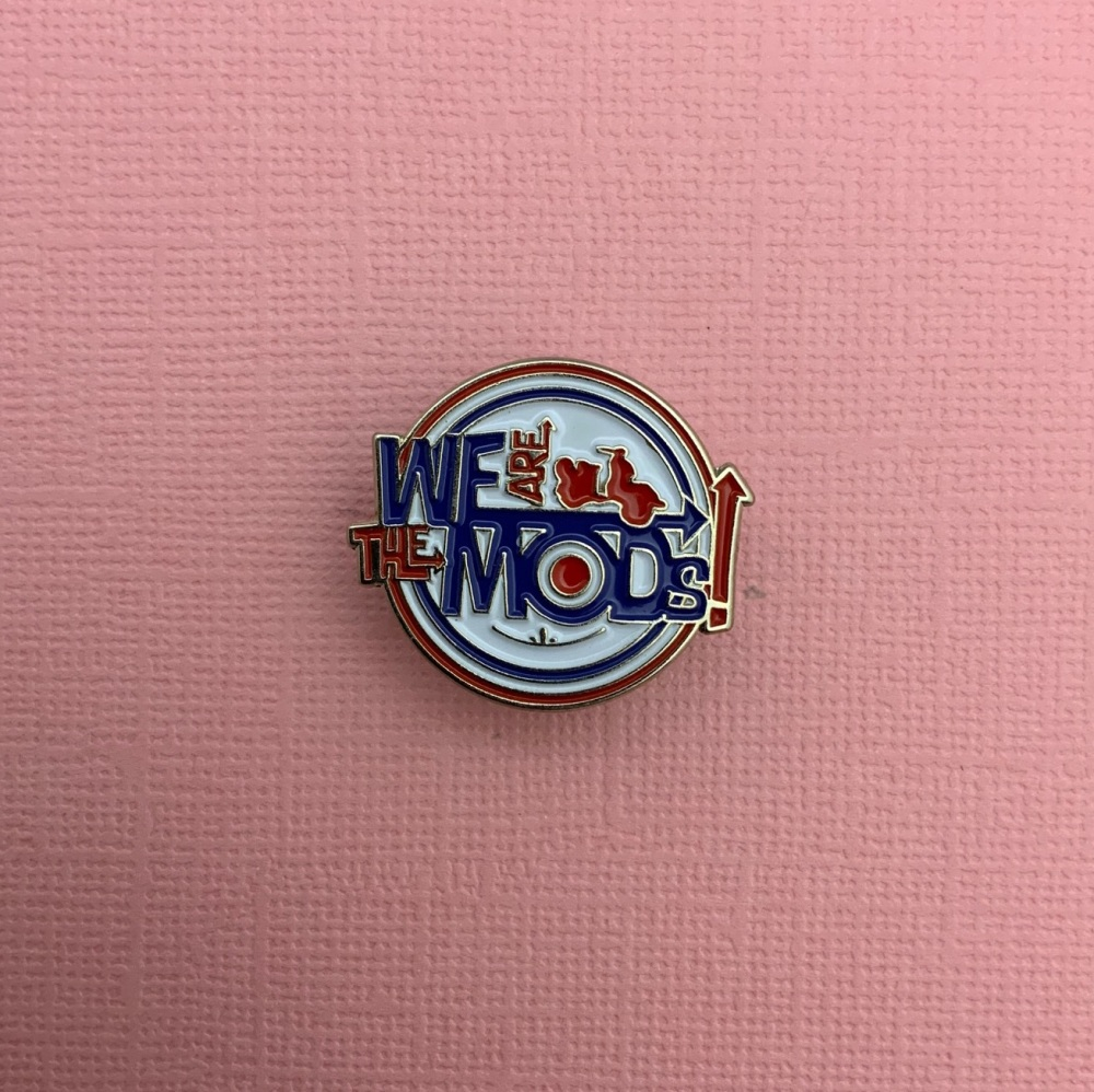 #0116 We Are The MODS Scooter  Enamel Metal Pin Badge