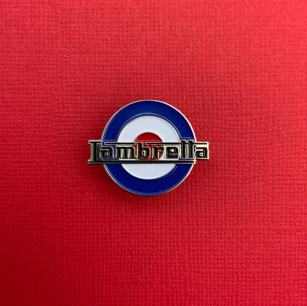 Lambretta MOD Roundel Enamel Metal Pin Badge #0033