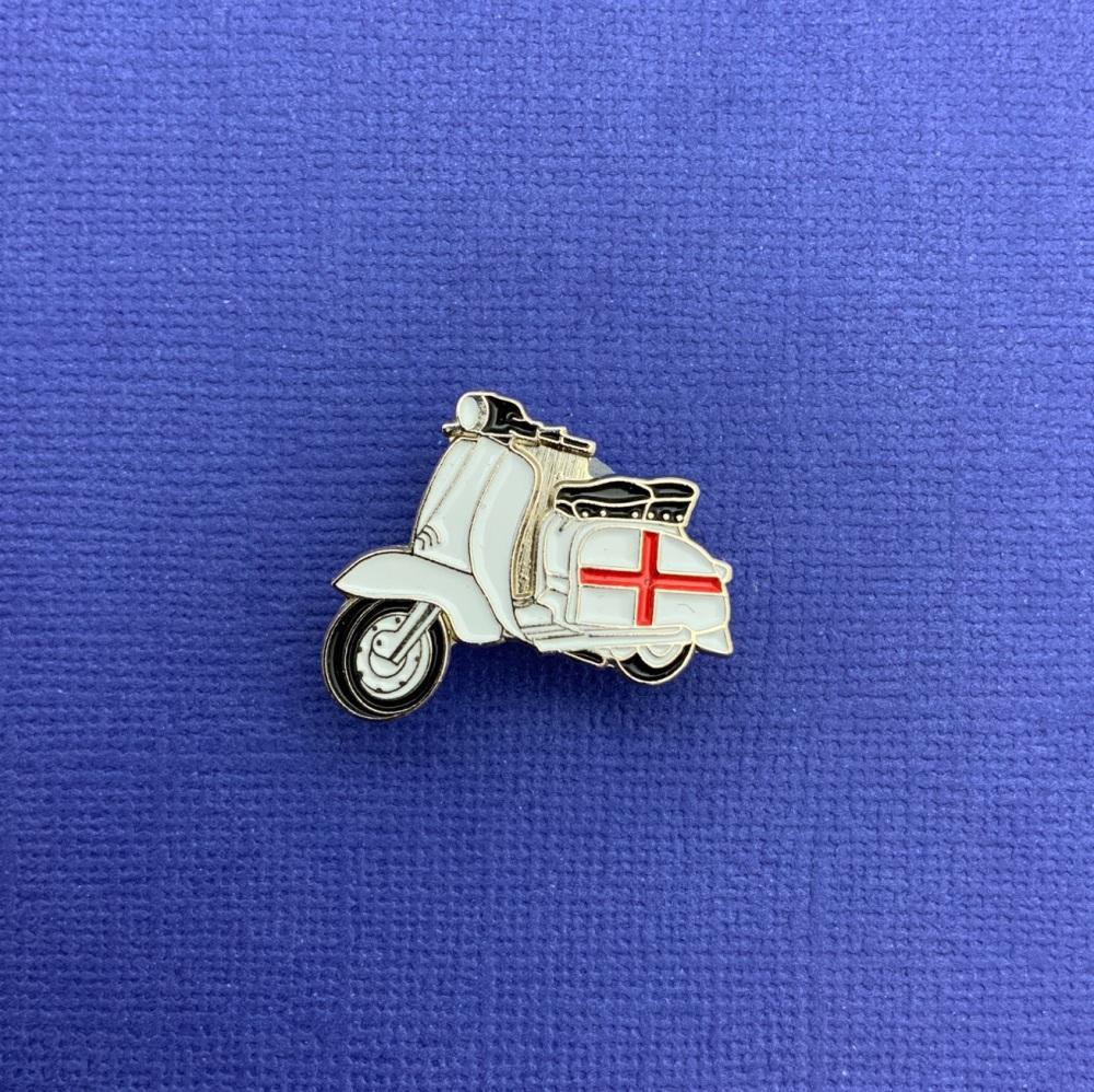 Lambretta St Georges England Flag Enamel Metal Pin Badge #0082