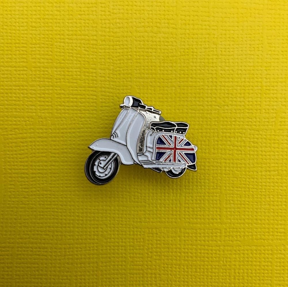 Lambretta Union Jack UK Flag Enamel Metal Pin Badge #0085