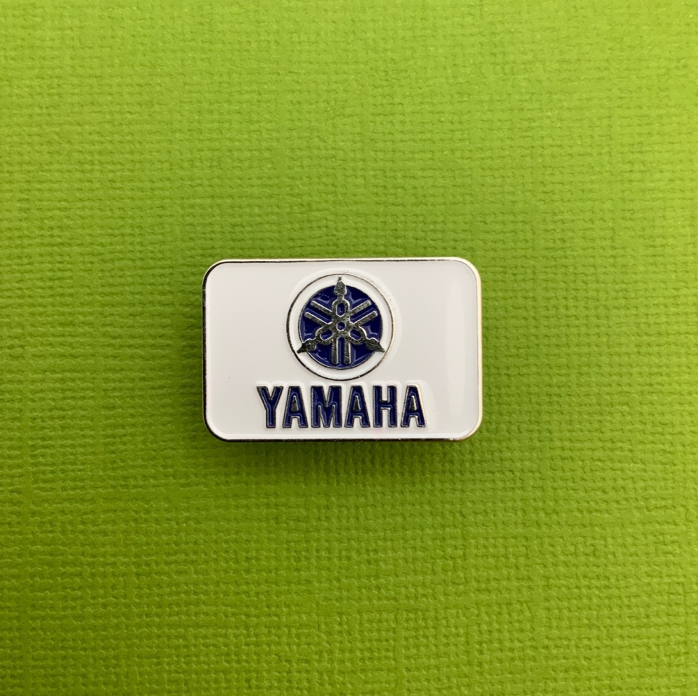#0067 Blue Yamaha Enamel Metal Pin Badge