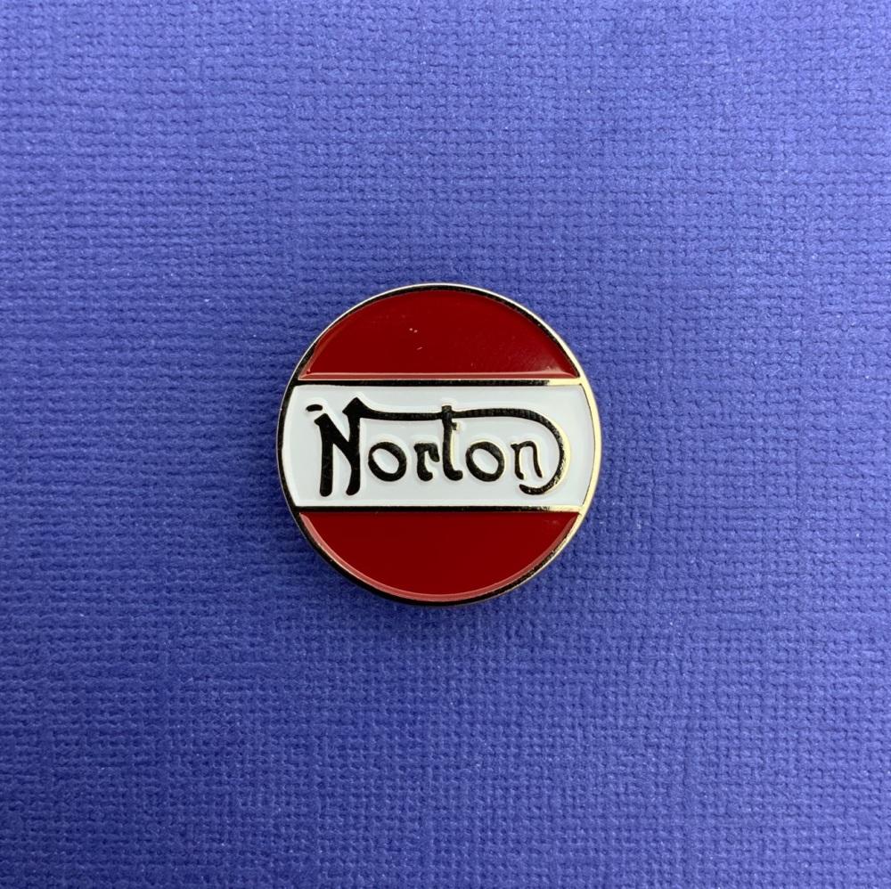 Norton Enamel Metal Pin Badge #0071