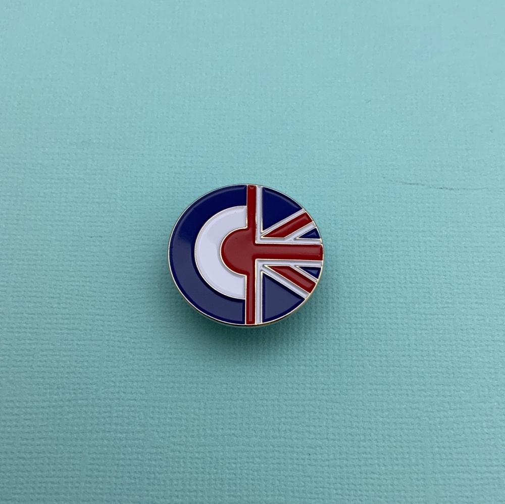 Roundel MOD Union Jack Enamel Pin Badge #0060