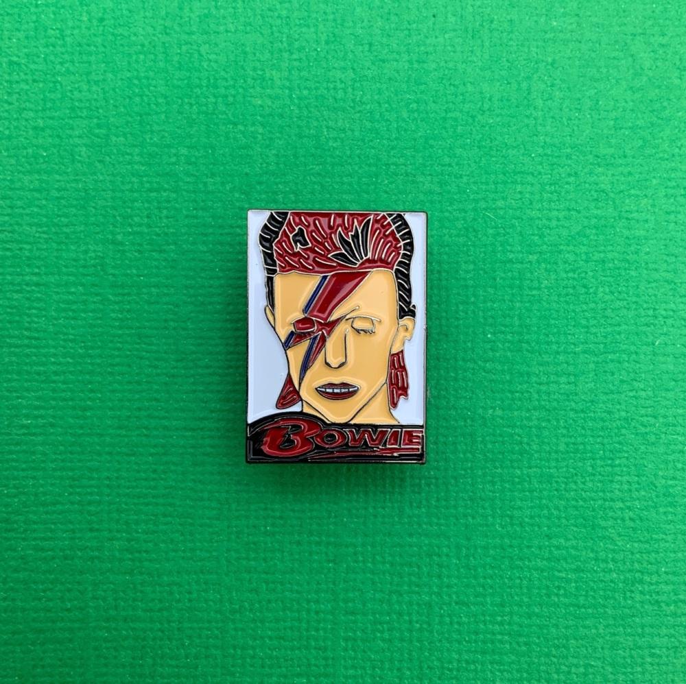 David Bowie Music Enamel Metal Pin Badge #0084