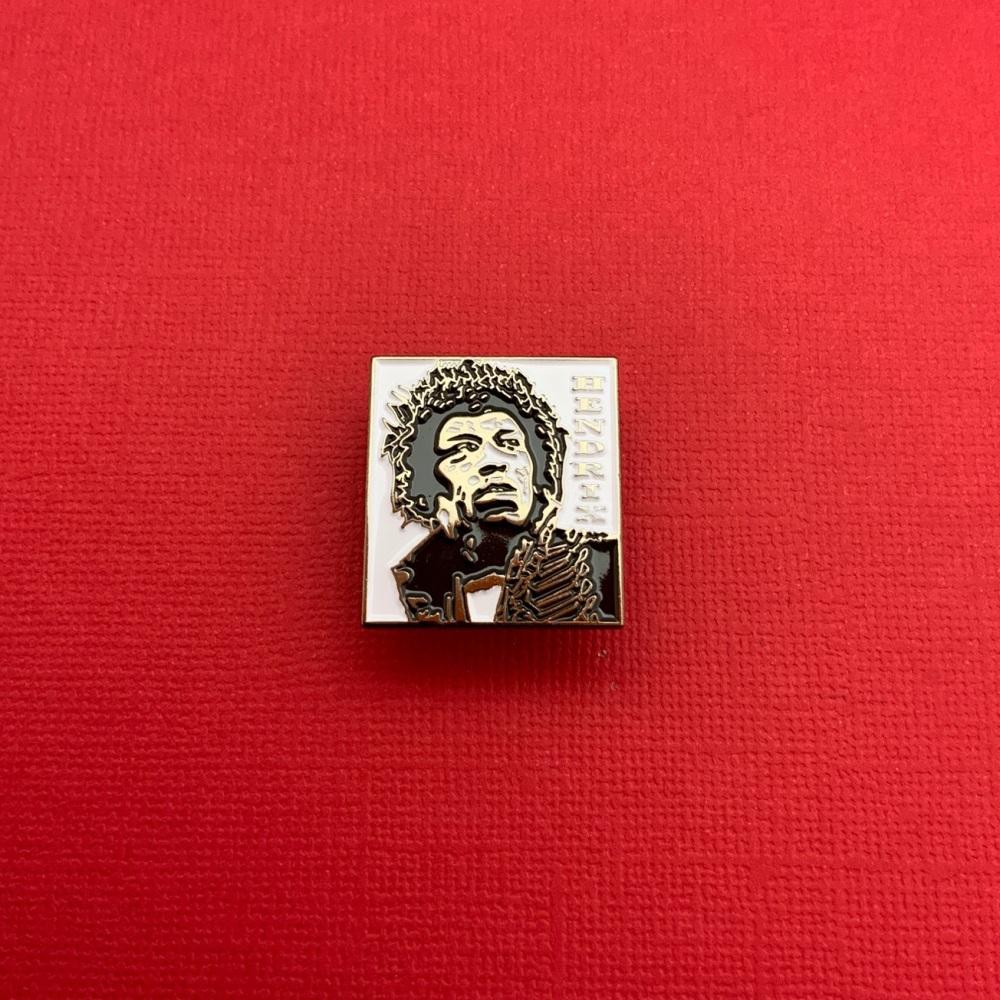 #0108 Hendrix Rock Music Enamel Metal Pin Badge
