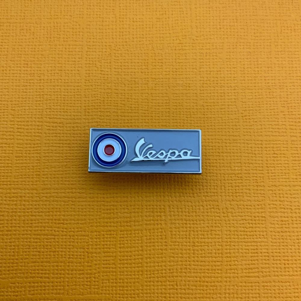Vespa Roundel Bar Enamel Metal Pin Badge #0045