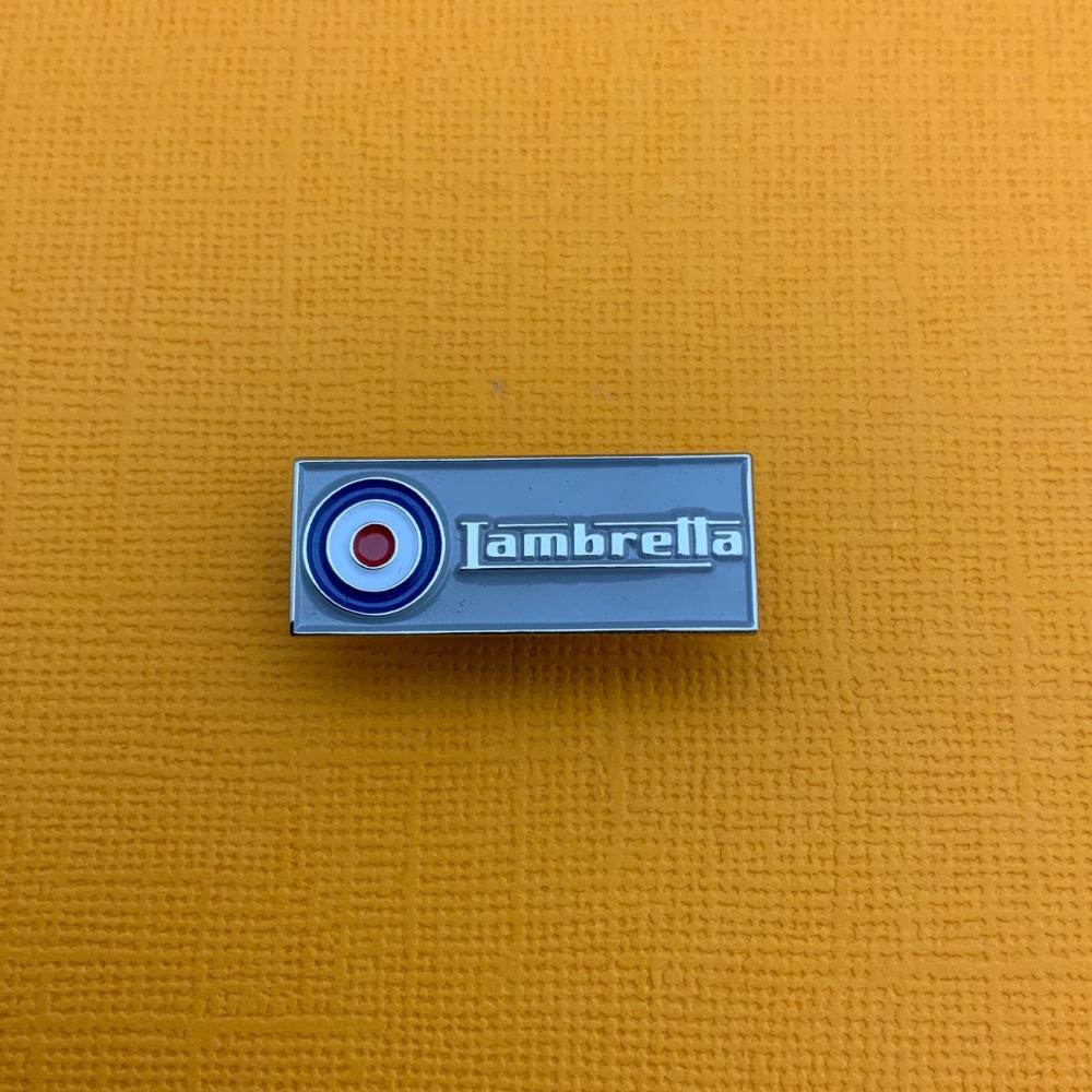 Lambretta Roundel Bar Enamel Metal Pin Badge #0046