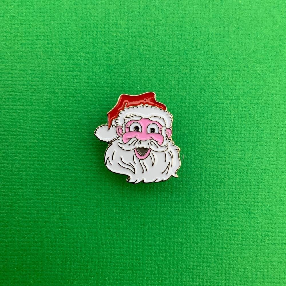 Father Christmas / Santa Head Enamel Pin Badge