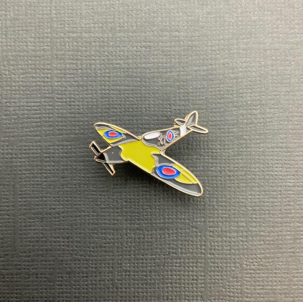 WW2 Spitfire Plane Enamel Pin Badge #0070