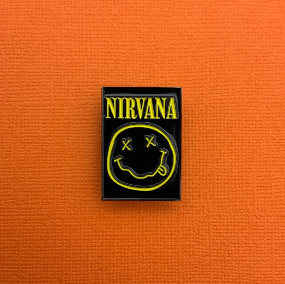 Nirvana Music Enamel Metal Pin Badge #0100