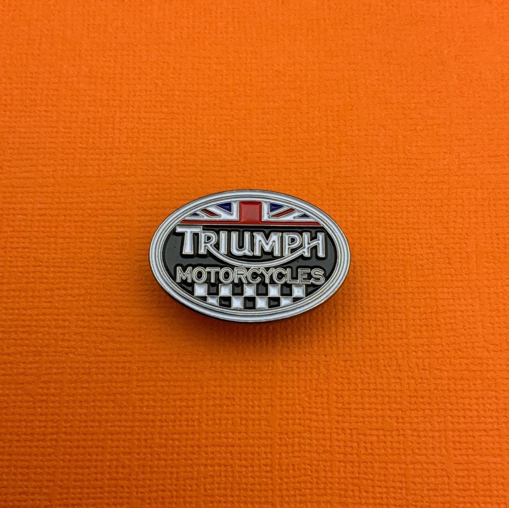 Triumph Motorcycles Oval Logo Enamel Metal Pin Badge #0063