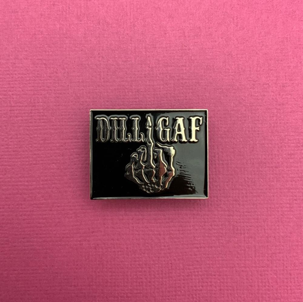 Dilligaf Skeleton Finger Enamel Pin Badge #0009